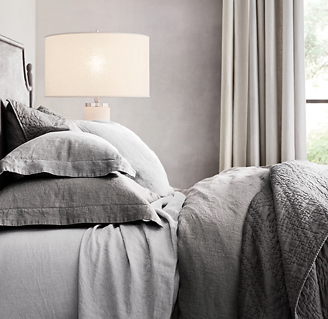 Find Many Great New Used Options And Get The Best Deals For Restoration Hardware Heathered Gray Cotton Cashmere Duvet Cover King Sham Shams At