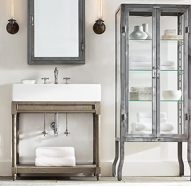 Pharmacy Large Bath Cabinet, Restoration Hardware Bathroom Storage