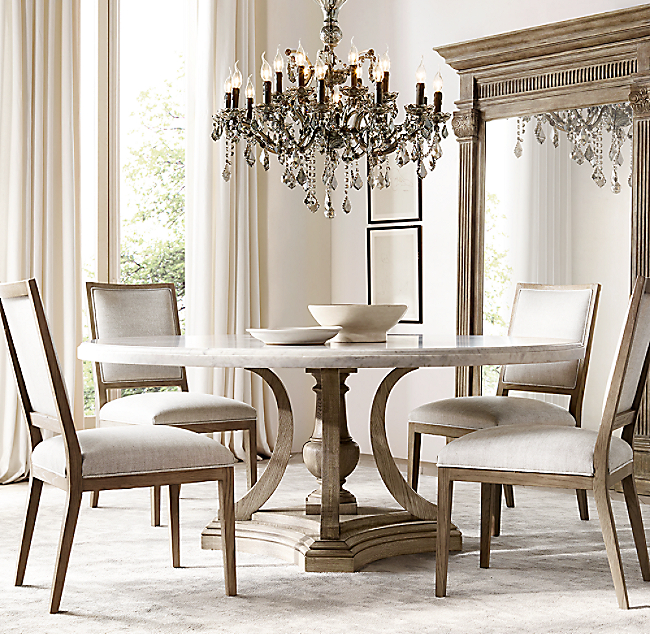 St. James Marble Round Dining Table