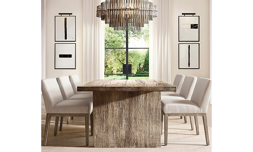 shop Russian Oak Grey Plank Rectangular Dining