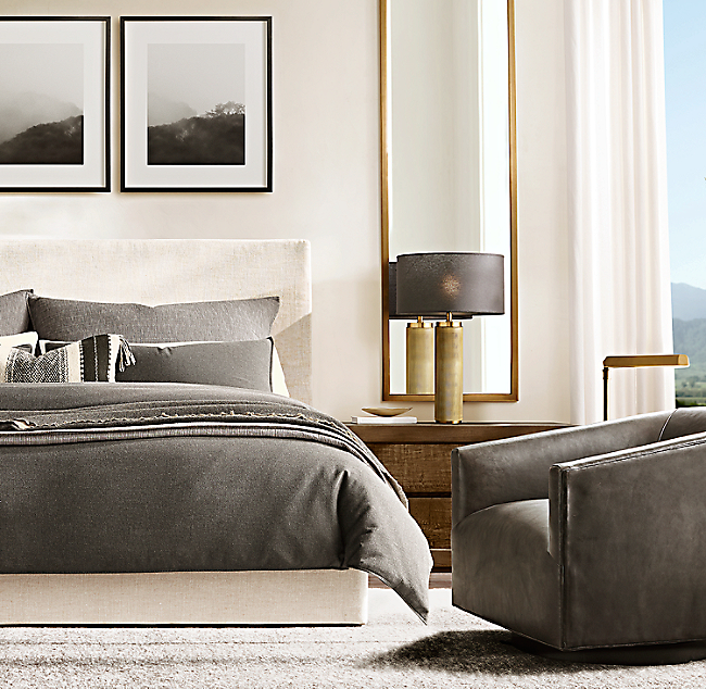 Awesome Sullivan Fabric Platform Bed Creativecarmelina Interior Chair Design Creativecarmelinacom