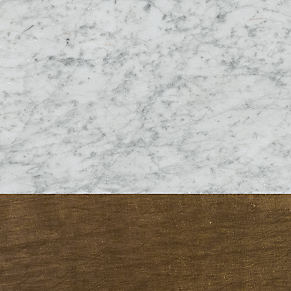Honed Carrara Marble & Antiqued Brass