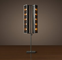 French Cinema Double Floor Lamp