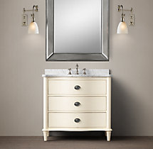 Empire Rosette Single Vanity