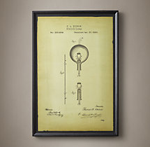 Edison Lightbulb Patent Document - White