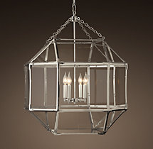 Parisian Octagonal Clear Glass Pendant