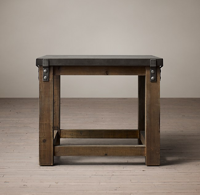 Reclaimed Wood Amp Zinc Top Side Table