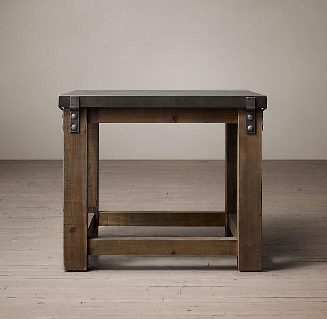 Preferred Reclaimed Wood & Zinc Top Side Table ZZ75