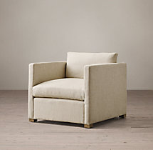 Belgian Classic Shelter Arm Upholstered Chair