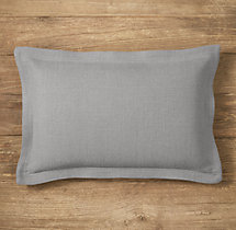Custom Heavyweight Belgian Linen Flanged Lumbar Pillow Cover
