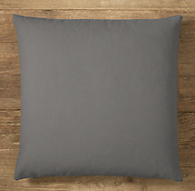 Custom Brushed Cotton Twill Knife-Edge Square Pillow Cover