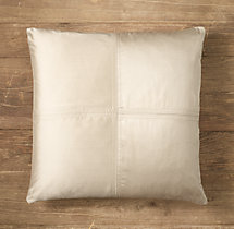 Custom Thai Silk Solid 4-Square Square Pillow Cover