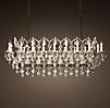 19th C Rococo Iron Clear Crystal Floor Lamp