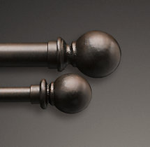Cast Iron Ball Finials (Set of 2) - Vintage Bronze