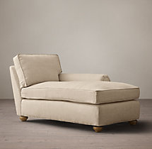 Classic Lancaster Upholstered Right-Arm Chaise