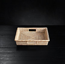 Handwoven Rattan Small Square Tray