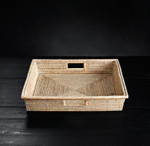 Handwoven Rattan Medium Square Tray
