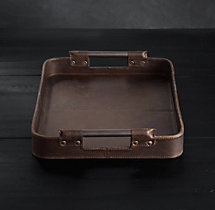 Italian Leather Small Rectangular Tray