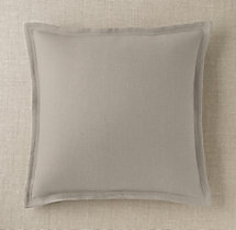 Custom Basket Weave Linen Flanged Square Pillow Cover