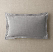 Custom Perennials® Classic Linen Weave Flanged Lumbar Pillow Cover