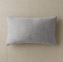 Custom Perennials® Textured Linen Weave Knife-Edge Lumbar Pillow Cover