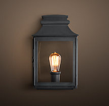 Vintage French Gas Lantern Sconce