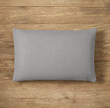Custom Heavyweight Belgian Linen Knife-Edge Lumbar Pillow Cover