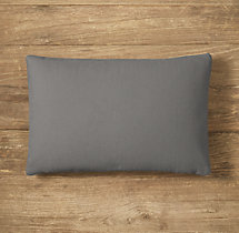 Custom Brushed Cotton Twill Knife-Edge Lumbar Pillow Cover