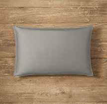 Custom Thai Silk Solid Stitched Lumbar Pillow Cover