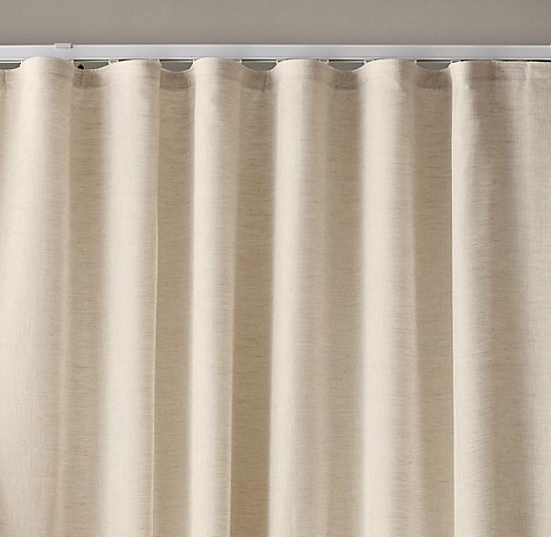 Custom Belgian Sheer Linen Ripple Fold Drapery