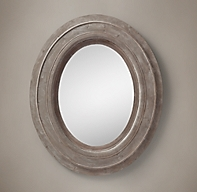 Salvaged Mansard Oval Mirror Large