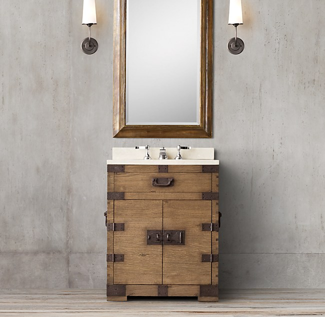 Powder Room Vanity silver-chest powder room vanity