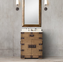 Heirloom Silver-Chest Powder Room Vanity