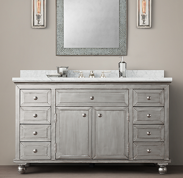 Annecy Metal Wrapped Extra Wide Single Vanity