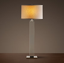 Square Column Crystal Buffet Lamp