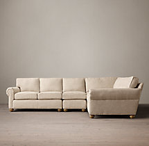 Preconfigured Classic Lancaster Upholstered L-Sectional