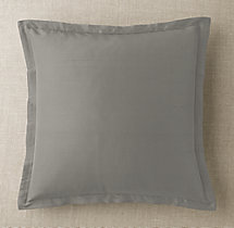 Custom Thai Silk Solid Flanged Square Pillow Cover