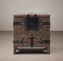16th C. Spanish Trunk Side Table