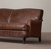 9' Barclay Leather Sofa