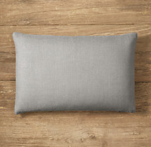 Custom Belgian Textured Linen Knife-Edge Lumbar Pillow Cover