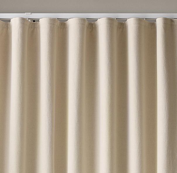 Custom Belgian Brushed Linen Cotton Ripple Fold