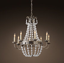 Marché French Empire Glass Chandelier 24""