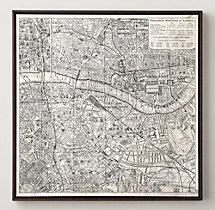 Vintage Aerial Maps of European Cities - London