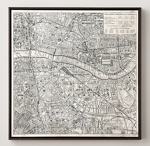 Framed Old Maps Of London - The Best Frame Of 2018