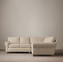 Preconfigured Classic Lancaster Upholstered Corner Sectional