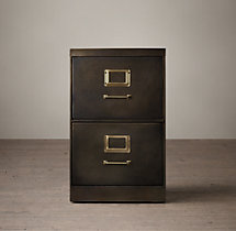 "1940S Industrial Modular Office 18"" 2-Drawer File Cabinet"