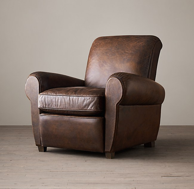 Superb 1920S Parisian Leather Club Recliner Machost Co Dining Chair Design Ideas Machostcouk