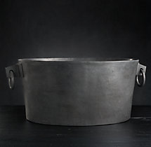 Grand Brasserie Cast Aluminum Large Oval Beverage Bucket