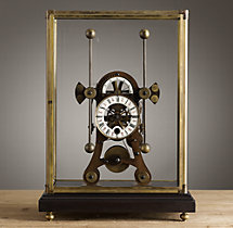 Circa 1900 French Dual-Dial Clock Cloche