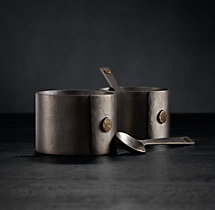 Hammered Steel Rivet Salt & Pepper Set
